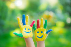 Happy hands Royalty Free Stock Photo