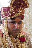 Happy handsome Indian groom. At his wedding Stock Photo