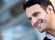 Happy handsome man Stock Images