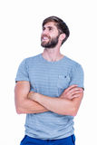 Happy handsome man with arms crossed Stock Photography