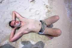 Happy handsome Man on the beach Royalty Free Stock Photography