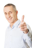 Happy handsome man pointing at you Royalty Free Stock Photo