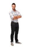 Happy handsome man posing in studio Stock Photography