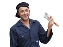 Happy handyman Stock Image
