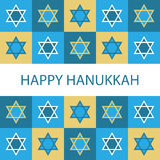Happy Hanukkah. Illustration of a greeting card for Hanukkah.EPS file available Royalty Free Stock Images