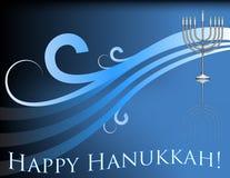 Happy Hanukkah!. An image of a menorah with the traditional colors of Hanukkah. Vector / Clip Art