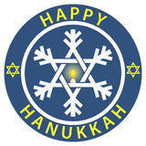 Happy Hanukkah Badge Royalty Free Stock Images