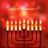 Happy Hanukkah blurred background Royalty Free Stock Photography
