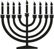 Happy hanukkah candleholder. Holiday vector