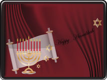 Happy hanukkah card Stock Images