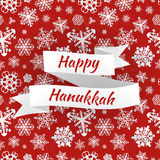 Happy Hanukkah card with snowflakes, vector Royalty Free Stock Photo