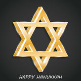 Happy Hanukkah. Creative banner or poster For  jewish holiday Hanukkah Stock Images