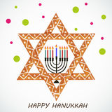 Happy Hanukkah. Creative banner or poster For  jewish holiday Hanukkah Stock Photo