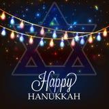 Happy Hanukkah. Creative banner or poster For  jewish holiday Hanukkah Royalty Free Stock Photo