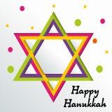 Happy Hanukkah. Creative banner or poster For  jewish holiday Hanukkah Stock Photos