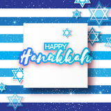 Happy hanukkah with David stars. Royalty Free Stock Photography