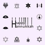 Happy hanukkah Design icon. Hanukkah icons universal set for web and mobile royalty free illustration