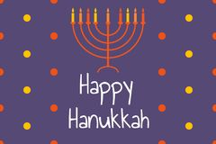 Free Happy Hanukkah - Festive Background With Menorah - Traditional Candlestick. Modern Minimalistic Template For Banner Stock Images - 164061924