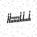 Happy Hanukkah. Font composition with candles in vintage style. Vector Holiday Religion Illustration. Jewish Festival Of Lights. D. Ecoration element Royalty Free Stock Images