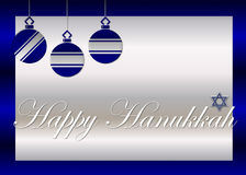 Happy Hanukkah Greeting Card. Designed in rich blue and silver. This was designed for greeting card printing. You could also use it for your website and royalty free illustration