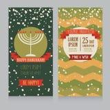 Happy Hanukkah greeting card design Stock Images