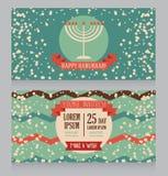 Happy Hanukkah greeting card design Stock Photography