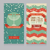 Happy Hanukkah greeting card design Royalty Free Stock Photos