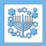 Happy Hanukkah greeting card design Stock Photography