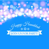 Happy Hanukkah greeting card with hand-drawn calligraphy designed text. Royalty Free Stock Images