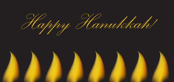 Happy Hanukkah greeting card, invitation, poster. Hanukkah Jewish Festival of Lights, Feast of Dedication. Vector illustration.  Royalty Free Stock Photography