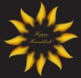 Happy Hanukkah greeting card, invitation, poster. Hanukkah Jewish Festival of Lights, Feast of Dedication. Vector illustration.  Royalty Free Stock Image