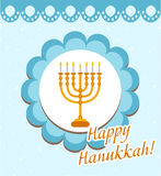 Happy Hanukkah greeting card, invitation, poster. Royalty Free Stock Photos