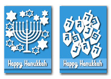 Happy Hanukkah greeting cards design Stock Photos