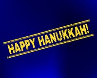 HAPPY HANUKKAH! Grunge Stamp Seal on Gradient Background royalty free illustration