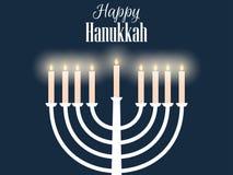 Happy hanukkah. Hanukkah candles flat design. Vector Stock Image