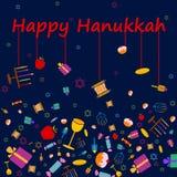 Happy Hanukkah holiday greeting background Royalty Free Stock Image