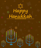 Happy Hanukkah holiday greeting background Stock Photo