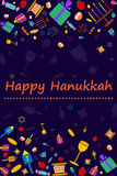 Happy Hanukkah holiday greeting background Royalty Free Stock Images