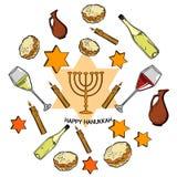Happy Hanukkah holiday. Greeting background. Vector illustration, EPS 10