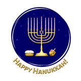 Happy Hanukkah Illustration Royalty Free Stock Photos