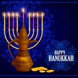 Happy Hanukkah for Israel Festival of Lights celebration Stock Photos