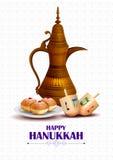 Happy Hanukkah for Israel Festival of Lights celebration Royalty Free Stock Photography