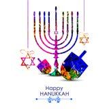 Happy Hanukkah for Israel Festival of Lights celebration Royalty Free Stock Images