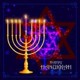 Happy Hanukkah for Israel Festival of Lights celebration Stock Photography