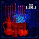 Happy Hanukkah for Israel Festival of Lights celebration Royalty Free Stock Photo