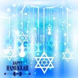 Happy Hanukkah for Israel Festival of Lights celebration Stock Image