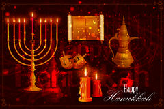 Happy Hanukkah for Israel Festival of Lights celebration Royalty Free Stock Images