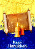 Happy Hanukkah for Israel Festival of Lights celebration Royalty Free Stock Image