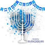 Happy Hanukkah for Israel Festival of Lights celebration Stock Photo