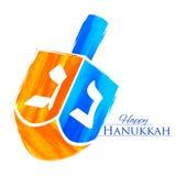 Happy Hanukkah, Jewish holiday background with dreidel Stock Image